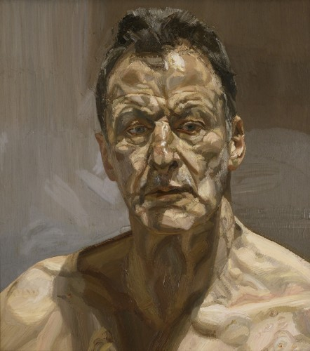 Reflection (Self-portrait), 1985. Private Collection, Ireland © The Lucian Freud Archive. Photo: Courtesy Lucian Freud Archive