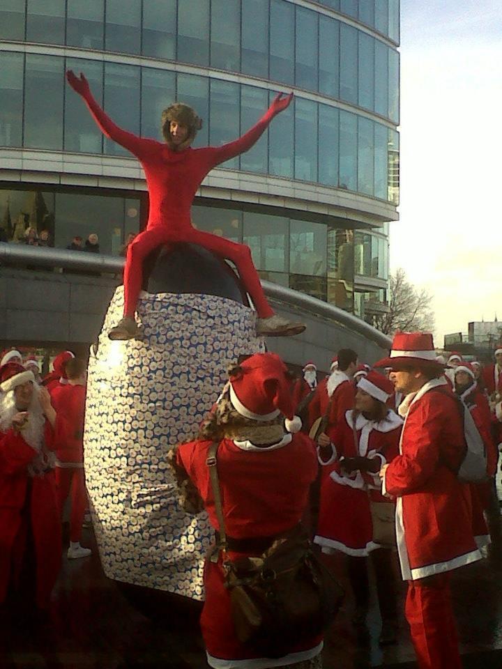King Santa at More London by Jane Parker