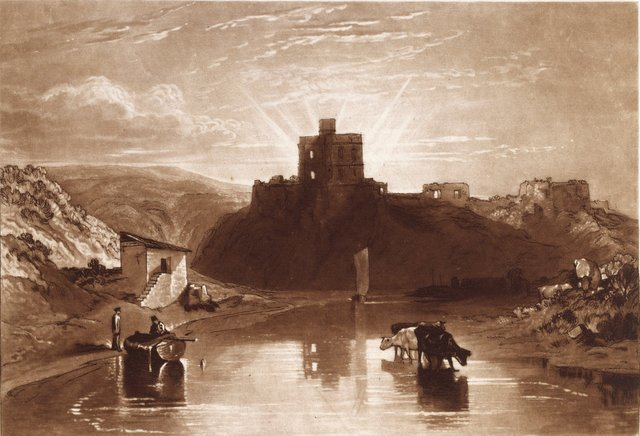 PL001030  J.M.W. Turner, R.A.  Norham Castle on the Tweed  1 January 1816  Etching and mezzotint  17.80 x 26.0 cm  Photo credit: �© Royal Academy of Arts, London