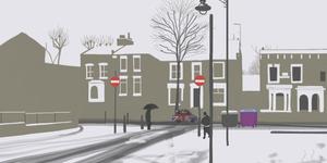 iPad Art: London In The Snow