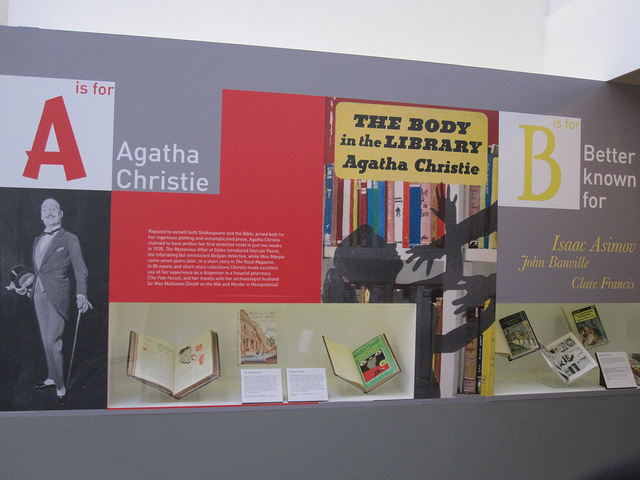 Agatha Christie starts the alphabetical journey through crime fiction