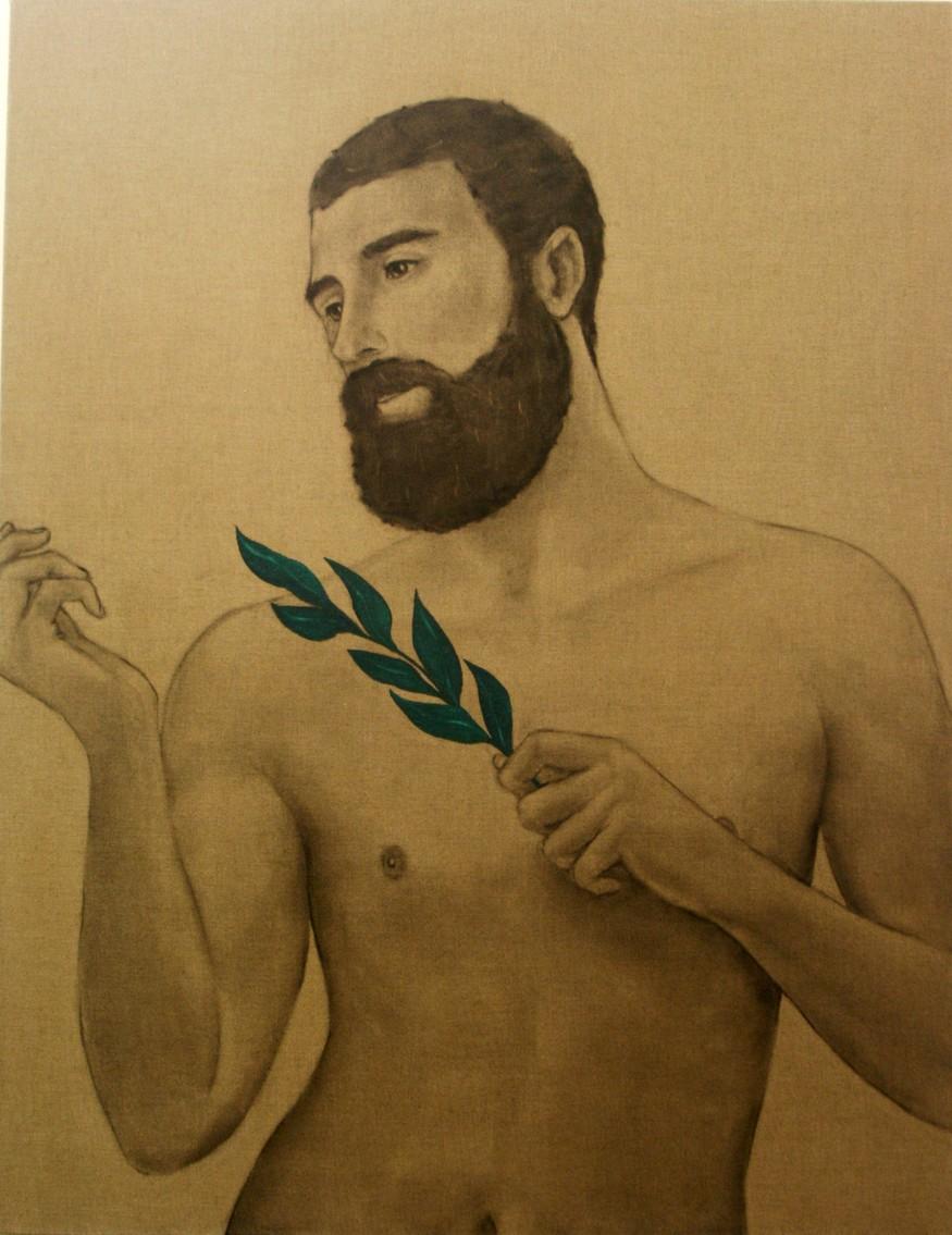 Matthew Tom, Disciple with Leaf. Image courtesy ArtEco.