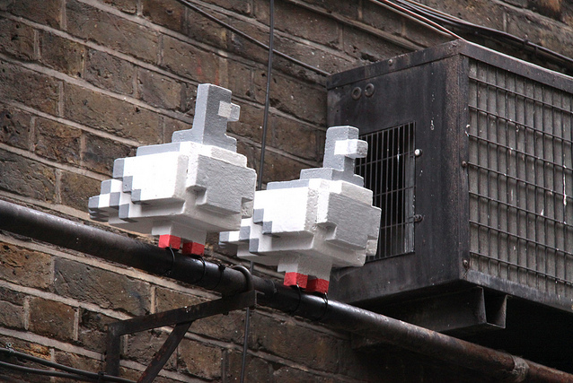 Pixellated Pigeons in Spitalfields by MykReeve