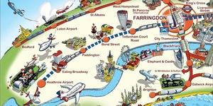 Farringdon In 2018 Mapped By Arty Globe