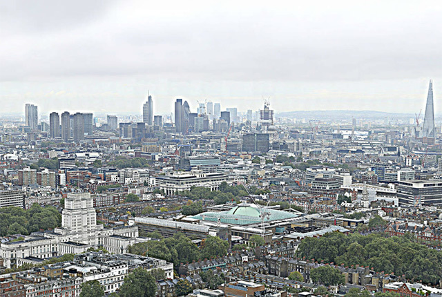 360 Degree Gigapixel Image Of London From Top Of Bt Tower