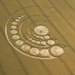 © Lucy Pringle. Crop-circle attributed to aliens activity in Cheesefoot, Hampshire
