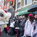 Chinese dragon dancing on chinatown