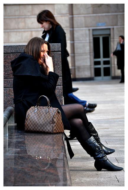 Brown handbag (knock off designer?) by Bob the Binman