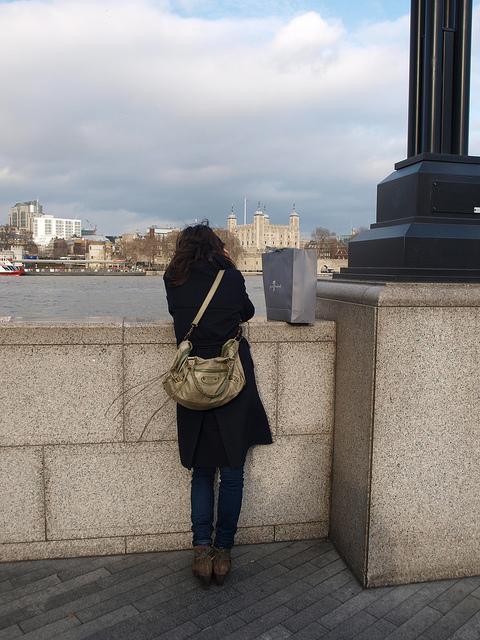 Green handbag by Past London