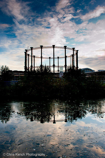 Kings Cross from Regents Canal by Chris Kench