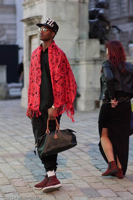 Manbag and shawl by Tobymutz