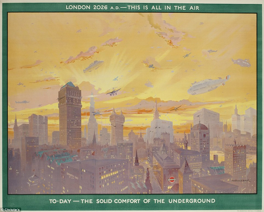 """London 2026 AD; this is all in the air"", Montague Black, 1926"