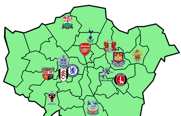 London Football Map Related Keywords Suggestions London Football