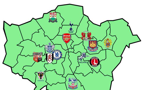 London Football Map Related Keywords Suggestions London Football