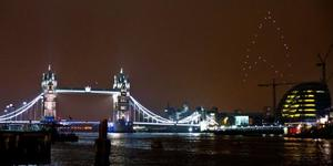 Mini-Drones Form Star Trek Logo Over London