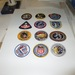 Apollo mission patches.