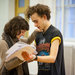 Ruby and Olly Alexander (who plays Peter Pan) in rehearsals for Peter And Alice. Photo by Marc Brenner.