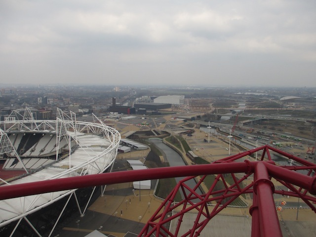 Looking north over the Park, many of the Games venues and infrastructure are gone.