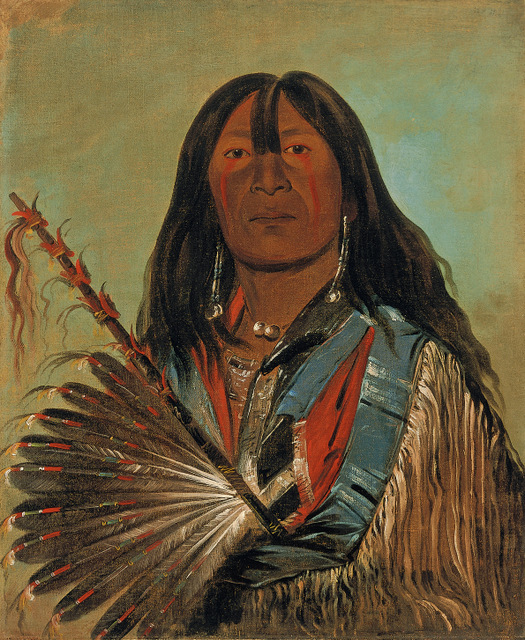 Shón-ka, The Dog, Chief of the Bad Arrow Points Band Western Sioux/Lakota, by George Catlin, 1832. Copyright: Smithsonian American Art Museum