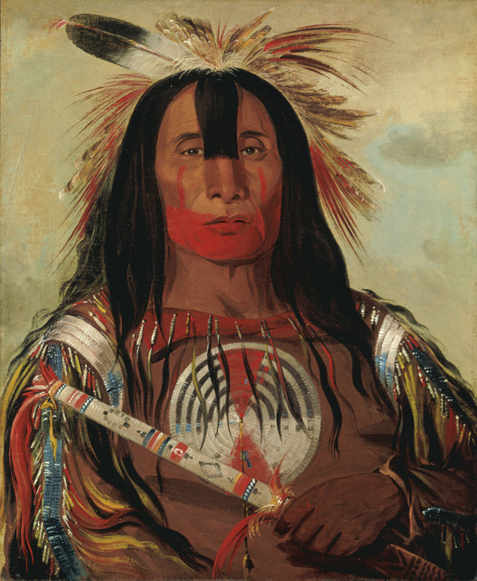 Stu-mick-o-súcks, Buffalo Bulls Back Fat, Head Chief, Blood Tribe Blackfoot/Kainai, by George Catlin, 1832. Copyright: Smithsonian American Art Museum