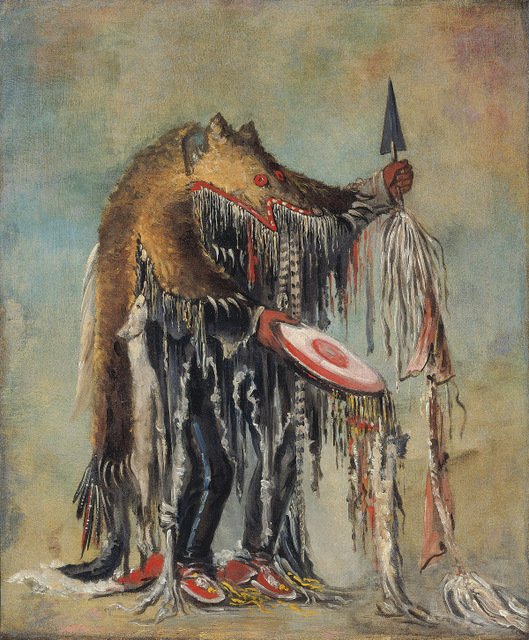 Medicine Man, Performing his Mysteries over a Dying Man Blackfoot/Siksika, by George Catlin, 1832. Copyright: Smithsonian American Art Museum