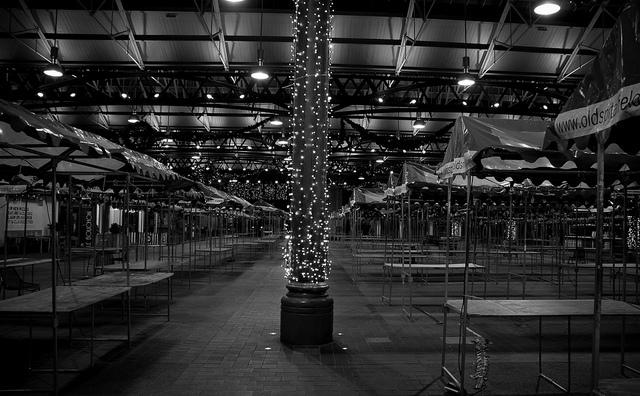 Old Spitalfields Market at Christmas