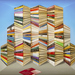 Book Mountain © Patrick Hughes, courtesy Flowers Gallery, London