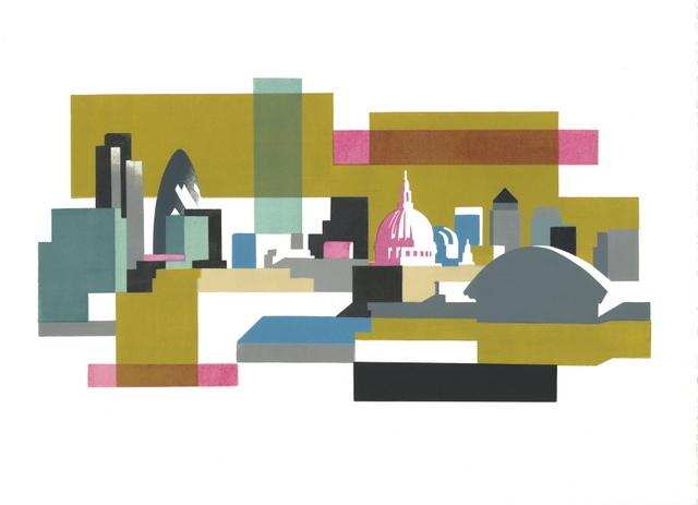 Paul Catherall, Cityscape III. Courtesy Gallery@Oxo