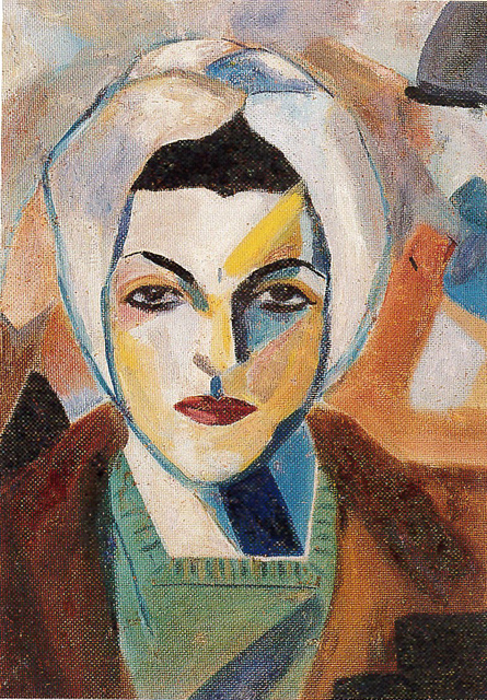 Saloua Raouda Choucair, Self Portrait 1943. © Saloua Raouda Choucair Foundation