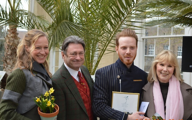 The Edible Bus Stop team with Alan Titchmarsh and Susan Hampshire