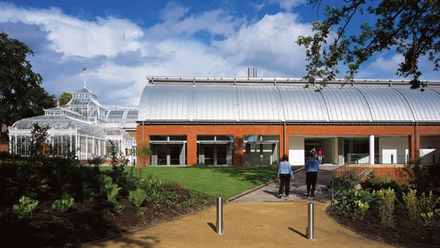 The landscaped approach to the Horniman Museum. Photo courtesy of the Horniman Museum and Gardens