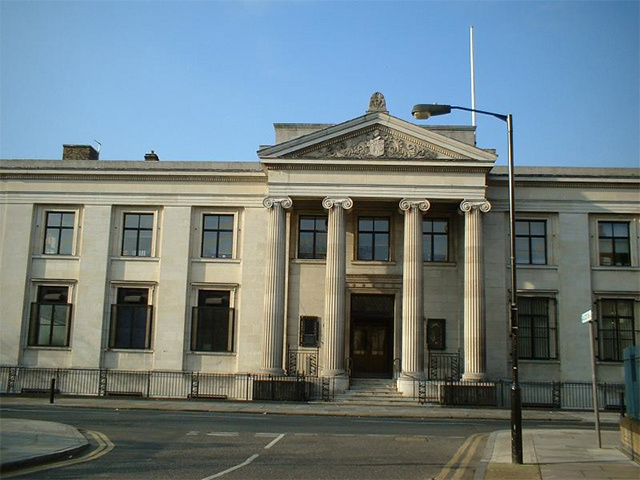 Bermondsey Town Hall, on Spa Road. It is set to be converted into flats.