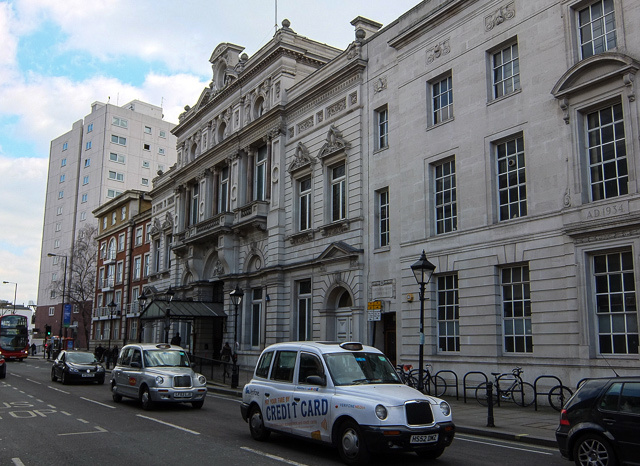 """Fulham Town Hall. Currently used as an events space, although it is set to be transformed into a """"quintessentially British lifestyle emporium""""."""