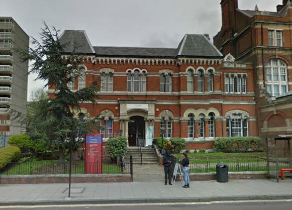 The former town hall of the Metropolitan Borough of Southwark, on Walworth Road. It now houses the Cuming Museum. The building was badly damaged in a fire in 2013.