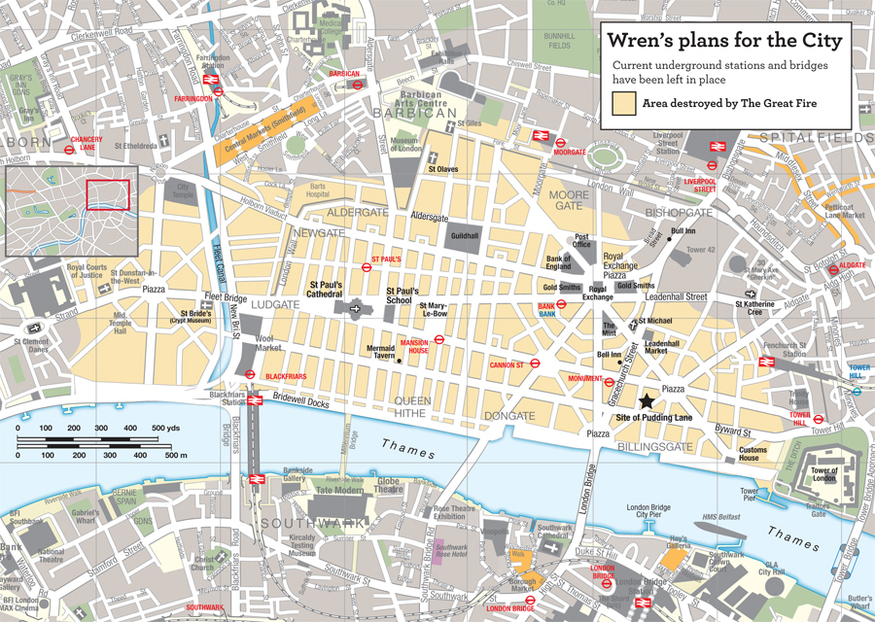 How The Square Mile Would Look Based On A Grid System