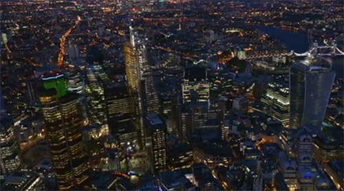 Video: The City of London At Night, From The Air