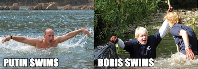 Boris Johnson And Vladimir Putin: Masters Of The Publicity Shot