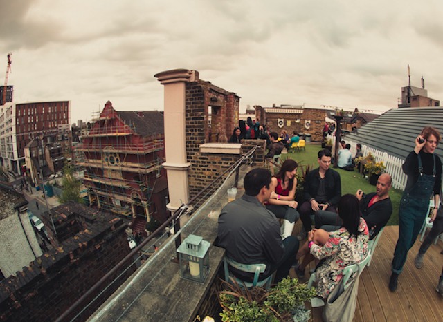 Dalston Roof Park usually hosts cinema events