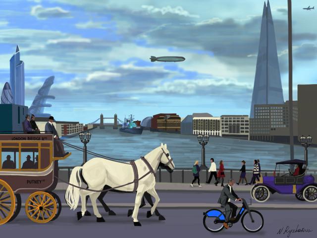 Time Travel London: On London Bridge