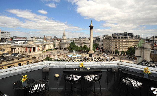 The view of Trafalgar Square from Vista