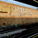 Hammersmith Palais ghost sign at Hammersmith station. By Pete Woodhead