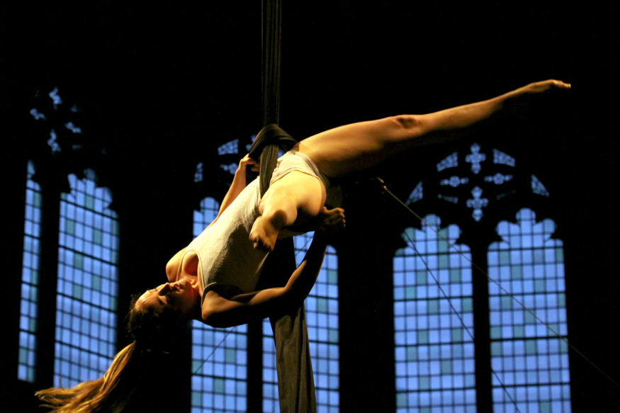 Gravity-Defying Stunts In One Of London's Oldest Churches