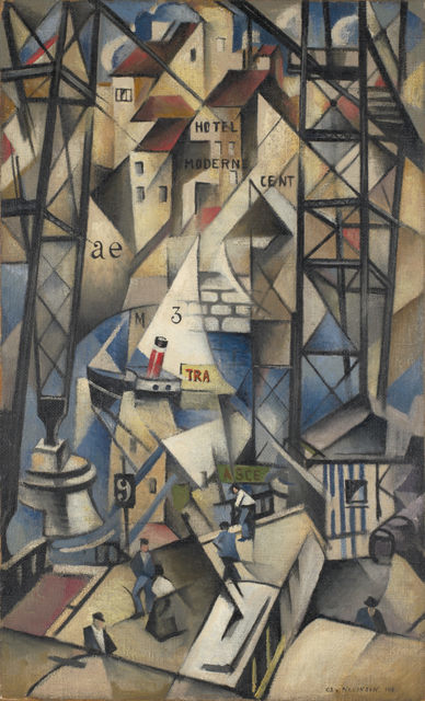 Christopher Richard Wynne Nevinson Le Vieux Port 1913. Image courtesy Government Art Collection.