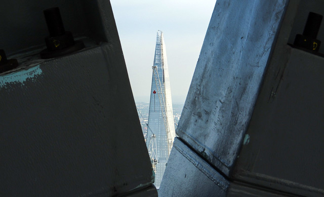An unusual view of the Shard