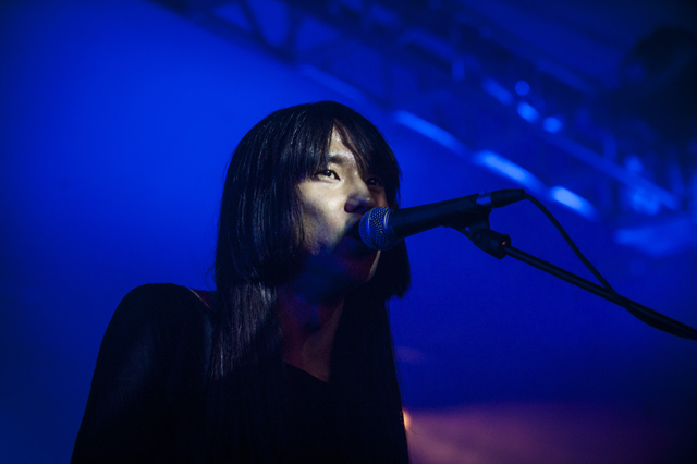 Bo Ningen playing at Clore Ballroom at the Royal Festival Hall.
