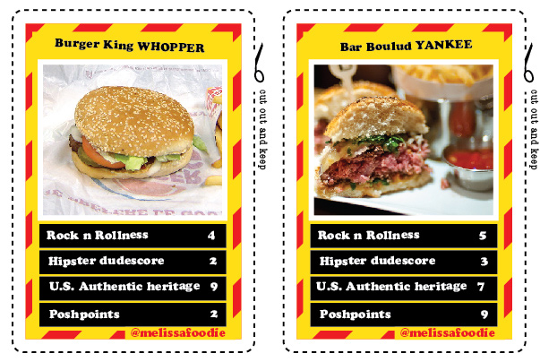 Top Trump Cards To Decide London's Best Burger
