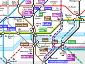 A Tube Map Of London's Small Theatres