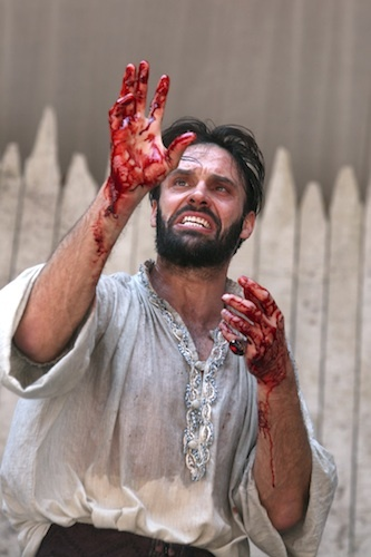 Joseph Millson as Macbeth at Shakespeare's Globe. Photo by Ellie Kurttz