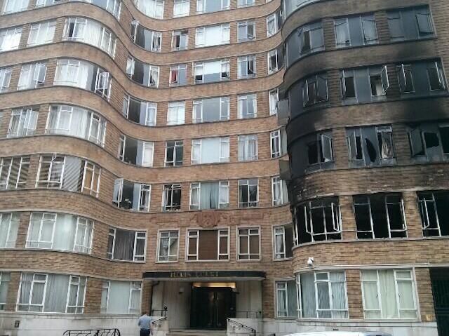 Serious Fire Damages Art Deco Florin Court