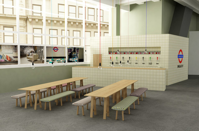 Tube Station Themed Bar Pops Up For London Design Festival